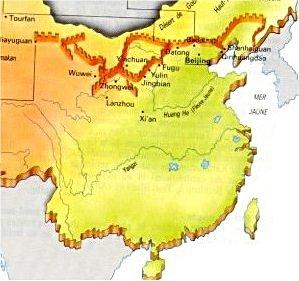 Carte Chine Grande Muraille.Grande Muraille