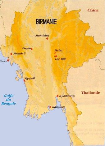 Birmanie Carte De Capital