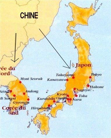 Carte Chine Japon.Japon